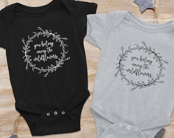 WILDFLOWERS onesie, Tom Petty shirt, Tom Petty onesie, colorado baby gift, bodysuit, baby shower gift, new baby gift, newborn onesie