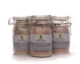 Bath Soaks Oatmeal Lavender or Coconut Rose Relax and Pamper Gift For Her.