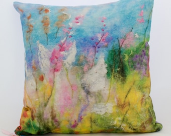 Pretty pink flower cushion / gifts for mum / gifts for her / mother's day gift / gifts for gardeners/ gifts for women / valentine gift