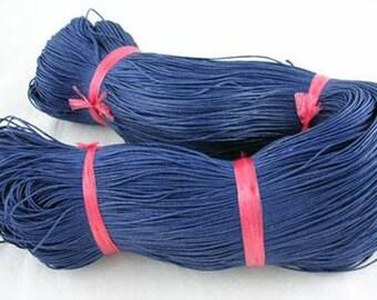 Thread - waxed cotton - 1 mm - blue - x10M