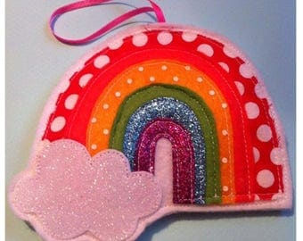 Felt rainbow decoration