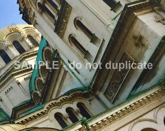Sofia Bulgaria Cathedral Saint Alexandar Nevski Up Close