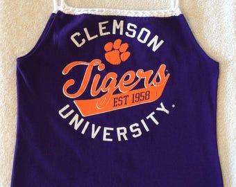Clemson University Ladies Upcycled Tshirt