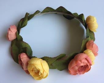 Flower Crown - Simple Orange & Yellow