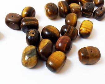 Set of 2 Tiger eye beads
