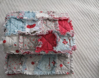 LITTLE RED RIDING HOOD QUILT RAG BABY BLANKET