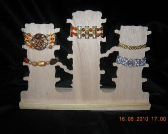 Display wood painting ref M 'Forest' bracelet