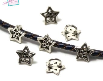 """10 pearls pink(Roses) for """"003 Star"""", silver leather strap"""