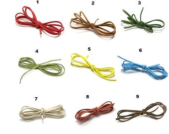 5 Metters suede 2.8 mm x 1, 5mm, 21 colors to choose from