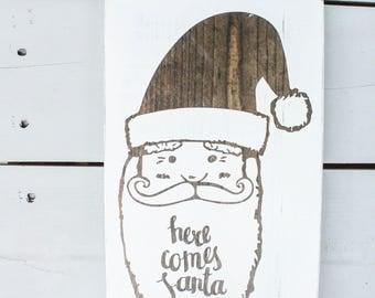 Rustic Santa, Santa Sign, Santa Claus, Rustic Christmas Sign, Christmas Decor, Wood Christmas Decor, Wood Christmas Signs, Xmas Decor, Xmas