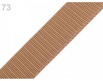 1 meter of 30 mm beige nylon strap
