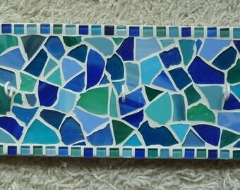 Mosaic bar hook key rack towel