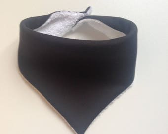 Bib - bandana dark blue / black white sponge / bib