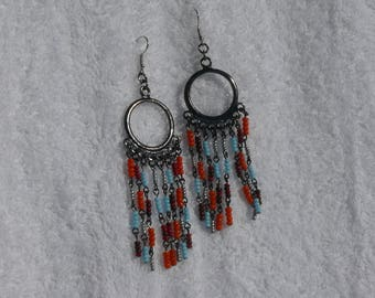 colorful hippie style stud earring
