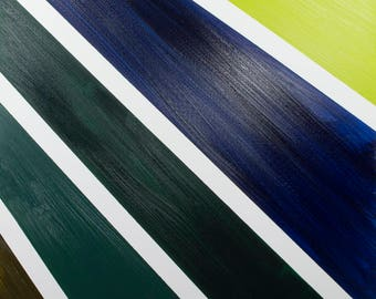 Abstract  Canvas Art, Modern Original Framed Deep Edged, Oil Painting. Artist Peter D Davies. Title: Angle 6. Size. 61 x 45 x 4cm