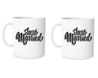 Custom Mug Personalized Just Married Mug Just Married Custom Mug Coffee Mug Valentine Mug Personalized Gift Mug Anniversary Mug Wedding Gift