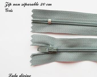 Not separable 30 cm single zipper 1: gray