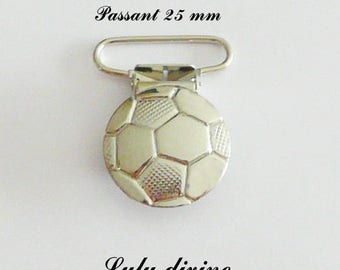 """20 strap, fastener clamps pacifier & cuddly, """"Football"""" """"Soccer ball"""" from 25 mm"""