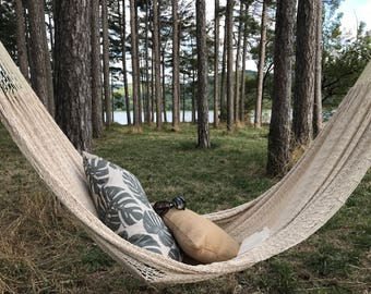GUÉTHARY, design hammock, very trendy for a chic and Bohemian to the inside and outside, 2, beige