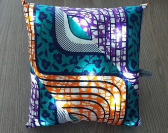 Pillow bright size 20x20cm wax fabric