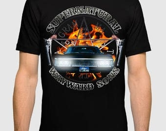 Supernatural Chevrolet Impala T-shirt, Men's Women's All Sizes