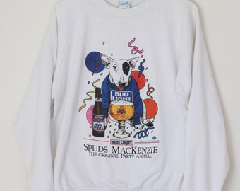 "Vintage 1987, Spuds Mackenzie ""The Original Party Animal"" Crew Neck Sweatshirt"