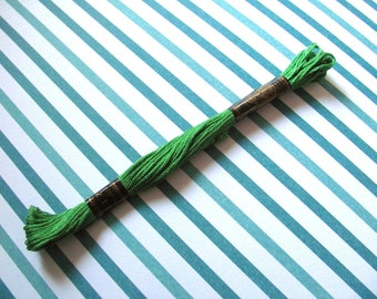 Cotton embroidery FLOSS stranded RUBI 211 Green