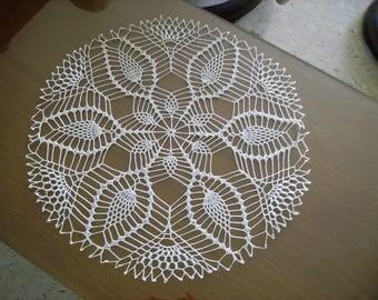 plain white crochet round doily
