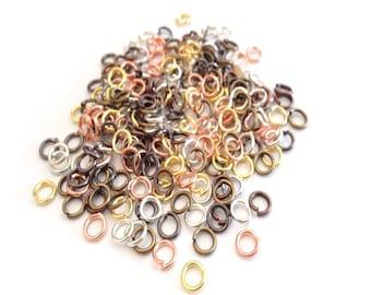 X 100 rings open heavy 6mm MIX
