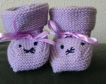 Purple slippers one size