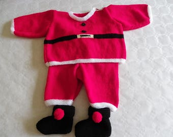 set sweater, pants and booties Santa