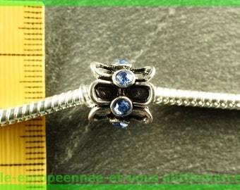 Pearl European N403 rhinestone spacer for bracelet charms