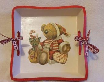Christmas Teddy bear basket
