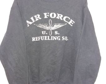 US AIR FORCE Sweatshirt Big Logo Spell Out Nice Design Large Size