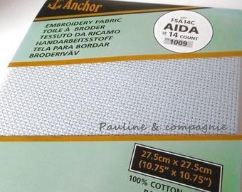Canvas Aida 7 Blue dimension 27.5 cm x 27.5 cm