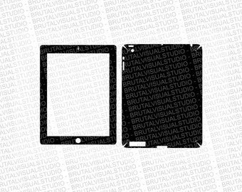 Apple iPad Gen 3 - Skin Cut Template  - Templates for cutting or machining - Digital Download - Plotter, CNC, Laser Cutter - SVG