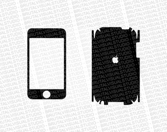 iPod Touch 3 Skin template for cutting or machining - Digital Download | Plotters, CNCs, Laser cutters, Silhouette Cameo, Cricut | 11 Files