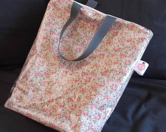 "Fancy ""liberty"" waxed canvas tote bag"