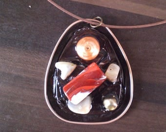"""Necklace """"Copper and Red"""""""