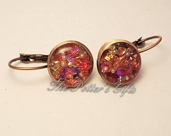 Handmade Resin Earrings with Glitters