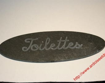 French House 'toilet' natural slate