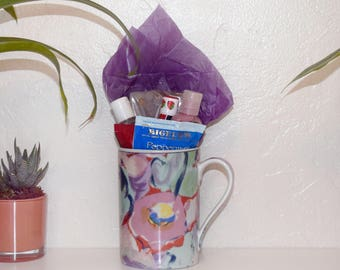 Get Well Care Package / Gift Cup / Mug / Get Well Gift / Flu Get Better Soon Gift Basket / Cup