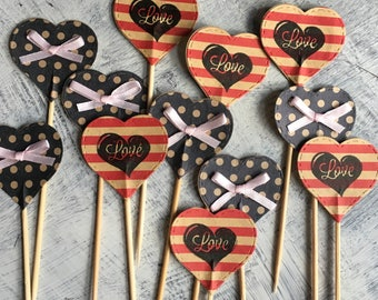 Cake, Cupcake Toppers