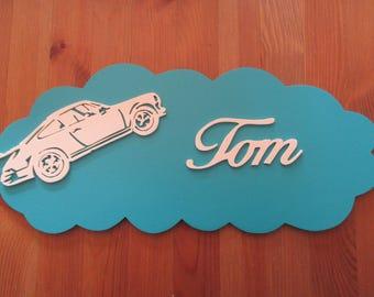 customizable with porsche blue door plaque