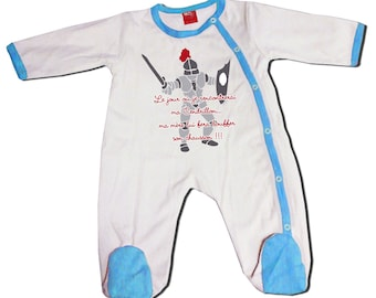 """Baby Blue humor pajamas """"the day or I'm my Cinderella"""""""