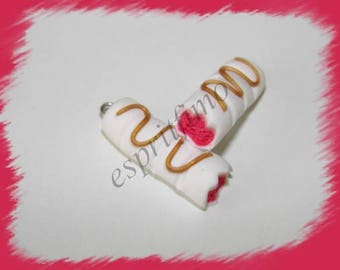 """Strawberry bar"" charm in polymer clay"