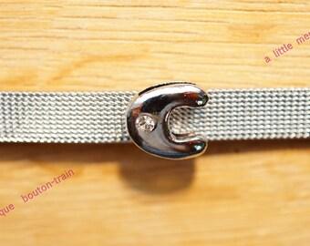 Pearl round c bubble foil bandwidth alphabet Bracelet 8mm
