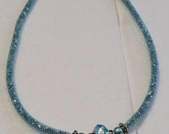 FishNet stardust necklace rhinestone tubular