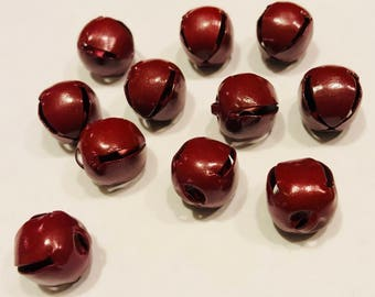 Red Jingle Bells, 6mm Burgundy Jingle Bells, Christmas Crafts