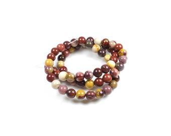 10 LBP00482 6mm natural Mookaite Jasper beads